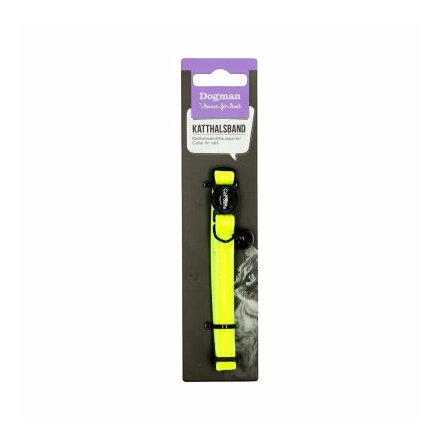 Reflexhalsband riffe med bjällra gul 10 mm 19-30 cm