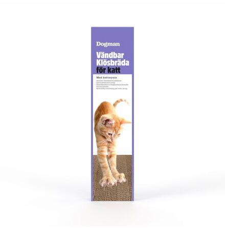 Klösbräda av papp med kattmynta vändbar 50x12x3 cm